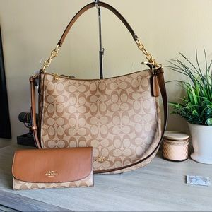 Coach hobo purse and wallet